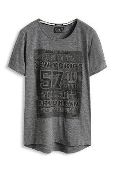 Esprit : T-shirt en jersey flammé 100 % coton à acheter sur la Boutique