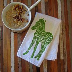 Zebra Cloth Napkin - Choose to Reuse! Zero Waste Lifestyle, Eco Friendly, Natural