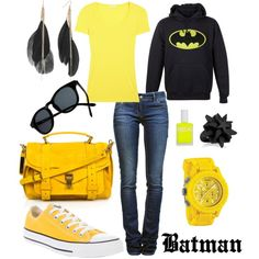 Batman inspired casual outfit - Dewey would think that I'm the coolest mom EVER!!