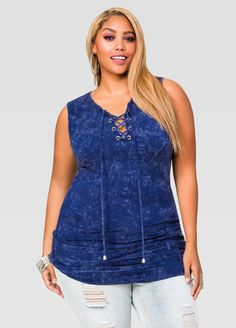 e3eedfee1ac Lace-Up Terry Tunic Lace-Up Terry Tunic Ashley Stewart
