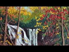 ▶ Painting with Paper - Landscapes by Barb Zimmerman - YouTube