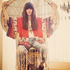 .@Les Pommettes | Back in stock the perfect for #coachella #fringe #kimono | Webstagram