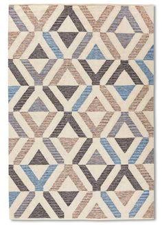 """Der Teppich """"York"""" überzeugt durch seine coole, grafische Musterung - bunt"""