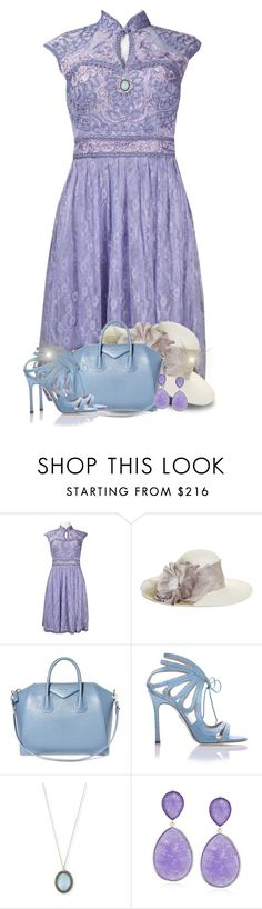 """Purple & Blue For Spring"" by majezy ❤ liked on Polyvore featuring Sue Wong, Brooks Brothers, Givenchy, Chelsea Paris and Armenta"