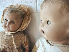 Old Dolls - these remind me of my Granny's doll room! I never used to go in there and still have a hard time doing so! Freaks me out!