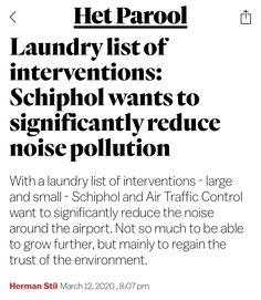 Air Traffic Control, Noise Pollution, Amsterdam, March, News, Mac