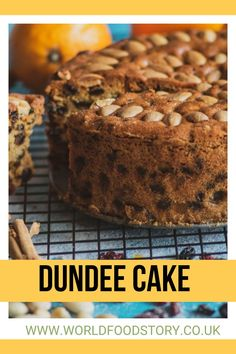Dundee Cake is one of the most famous and widespread traditional Scottish cakes. Usually, it is being made using almonds, currants, sultanas and sometimes cherries, alongside a wide range of spices.Officially it first appears at the beginning of the 19th century, in the city of Dundee, whence its name. Unlike most traditional dishes, which have been created and preserved for generations in the folk tradition, Dundee Cake is different.