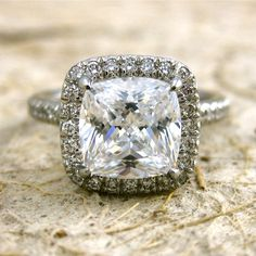 Platinum Micro Pave Diamond Engagement by AdziasJewelryAtelier, $2960.00  I love this! Gah, so expensive...
