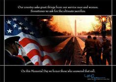Memorial Day: The Lord be with You All
