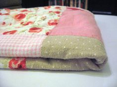 blanket make from receiving blankets, what a good idea!