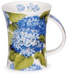 Dunoon - Fine Bone China Mugs - Richmond Shape : Hydrangea Blue