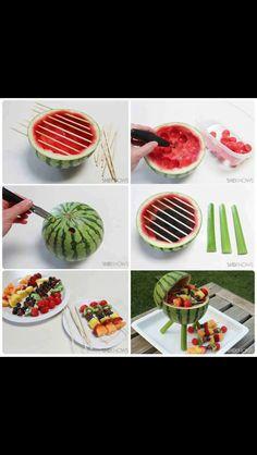 Watermelon grill centerpiece