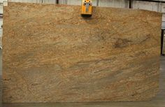 Kashmir Gold granite images and photos for stone countertops, slabs, vanity tops, flooring and tile showers. Tile Showers, Hardwood Floors, Flooring, Granite Tops, Stone Countertops, House Ideas, New Homes, Kitchen, Toilet Tiles
