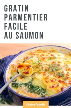 Parmentier gratin with salmon - Healthy Recipes 👩‍🍳 Healthy Foods To Eat, Healthy Snacks, Healthy Eating, Salmon Pie, Salmon Food, Healthy Dinner Recipes, Snack Recipes, Baked Vegetables, Easy Pie