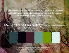 SS2017 Trend Forecasting for Women, Men, Intimate, Sport Apparel - The interaction between Graphic, Color and Organic materials embraced the energy of nature to create an instinctive Eco-friendly story www.FashionWebGraphic.com