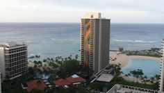 Hilton Hawaiian Village Rainbow Tower, Lagoon, and Ali'i Tower, with a peek of the Super Pool. (And of course Wakiki Beach!) my FAVORITE RESORT. #HiltonHawaiianVillage [Also had scenes from Hawaii Five-0 filmed here.] #H50 #HawaiiFive0