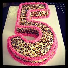 Hand painted cheetah cake