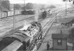 The eastbound Twilight Limited (Chicago - Detroit) just cleared the St. Joseph River bridge in Niles Michigan on July 10, 1946. - from Classic Trains, Fall 2012