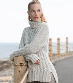 6b3352bf768762 How To Make A Split Hem Cable Knit Pullover Free Knitting Patterns For  Women