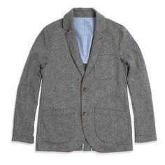 The Telegraph Jacket - Ash Tweed Herringbone: Featured Product Image