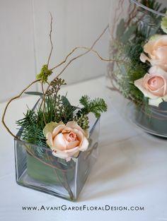 gesteck mit creme rosen romantisch lieblich shabby von die mit den blumen tanzt auf. Black Bedroom Furniture Sets. Home Design Ideas