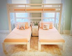 Audrey Triple Bunk Bed in White White