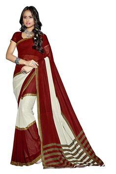 Maroon Colour Rich Feel Printed Saree Buy Sarees