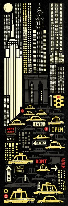 New York by Peter Donnelly.  Peter is an award winning illustrator working in Advertising, Picture books and Animation.