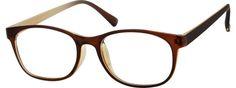 Women's Brown 2444 Plastic Full-Rim Frame | Zenni Optical Glasses-k3PHULnN