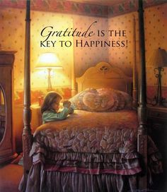 Gratitude is the key to happiness. Painting by Greg Olsen