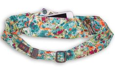 Colorful running gear for women! The BANDI belt belt secures your phone while you pound the pavement.