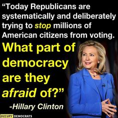 @HillaryClinton calls out @GOP  opponents by namehttp://cnn.it/1cBJuQH #VotingRights #RestoreTheVRA #USlatino