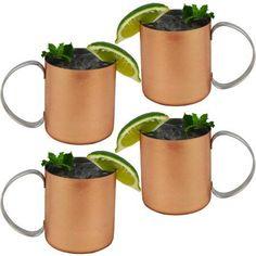 Southern Homewares Copper Mug for Moscow Mules, 12 oz, 4pk, Bronze