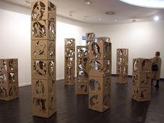 Installation Art | ... carton 50 x 50 x 50 cm installation au musee d art moderne de ceret