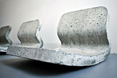 Saiu na designboom . contemporary concrete furniture 'concrete bench' by tejo remy and rené veenhuizen an industrial. Concrete Bench, Concrete Forms, Concrete Furniture, Concrete Art, Concrete Projects, Concrete Design, Garden Furniture, Home Furniture, Furniture Design