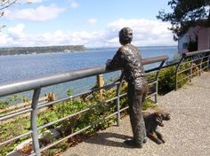 A Boy & his Dog, Langley, Whidbey Island, WA