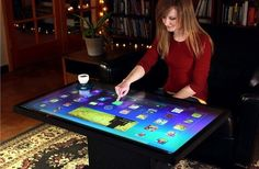 Ideum Multitouch Coffee Table Runs On Android  Awesome! SO WANT IT! :)