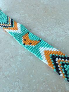 Bracelet RENAR tissé en perles de rocailles