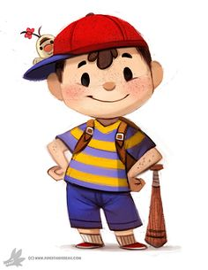Awesome Ness and Mr. Saturn Art!