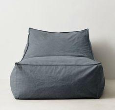 Distressed Canvas Bean Bag Lounger at RH Teen Bean Bag Chairs d96fe77e1aac1