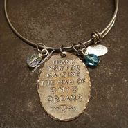 Thank You For Raising The Man Of My Dreams Natural Brass Oval w/ 2 Birth Stones And Black Lettering Stamped Jewelry, Metal Jewelry, Pendant Jewelry, Personalised Gifts For Him, Personalized Jewelry, Birth Stones, Hand Stamped Metal, Mother In Law Gifts, Felt Hearts