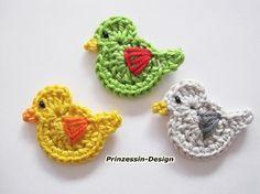 Crocheted ducks/birds