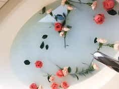 """127 Likes, 6 Comments - Erin (@erinnicol_) on Instagram: """"I'm so excited to edit these milk bath pictures with @itsnicoleexp and miss Norah"""" We Heart It, Milk Bath, Bath Water, Landscape Illustration, Illustration Art, Rose Bath, Bath Pictures, Entspannendes Bad, Relaxing Bath"""