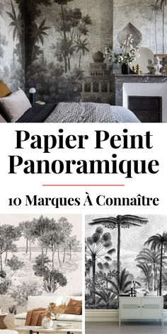10 Marques de Papier Peint Panoramique A list of 10 brands of panoramic wallpaper to find ideas and inspiration. Design Living Room Wallpaper, Room Wallpaper Designs, Interior Wallpaper, Of Wallpaper, Designer Wallpaper, Pattern Wallpaper, Interior Design Living Room, Living Room Designs, Tropical Decor