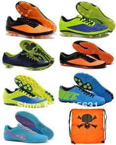 free shipping New 2013-2014 men's turl football boots Original quality Hypervenom Phelon Red TF football shoes soccer cleat $3.60 - 56.00