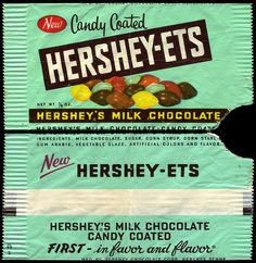 Hershey's - Hershey-ets - New - candy package wrapper - 1950's by JasonLiebig, via Flickr
