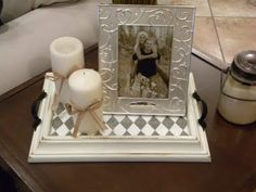 Thought this was a cute idea...  Turn a picture frame into a decorative tray.