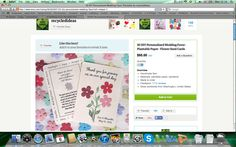 Favour flower seed card