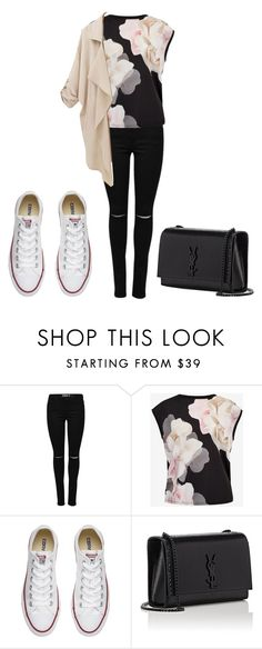 """What if she is the one🍷🌸"" by aubergineamil ❤ liked on Polyvore featuring Ted Baker, Converse and Yves Saint Laurent"