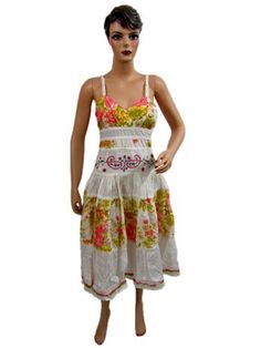 Womens Bohemian Cotton Dress White Spaghetti Straps V-neckline Lacework Dress Mogul Interior, http://www.amazon.com/gp/product/B009205D8I/ref=cm_sw_r_pi_alp_0Iroqb0ZY66D8